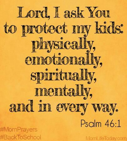 Prayer for our children: