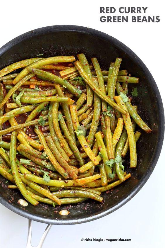 Green Beans - Green Beans Stir fry with red curry paste, kaffir lime ...