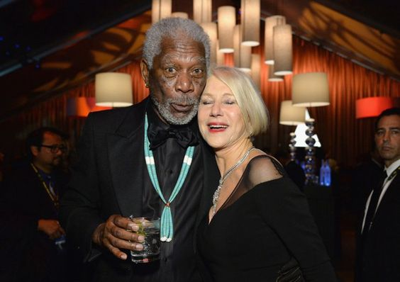 Pin for Later: 26 Stars Qui N'ont Pas Su Résister au Charme d'Helen Mirren Morgan Freeman