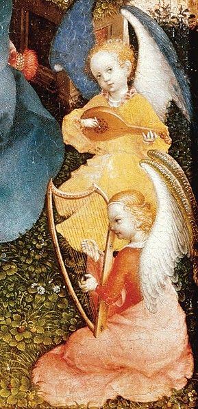 Lochner, Stefan (1400-1451) - Madonna of the Rose Bush, detail 2, ca 1440, Wallraf-Richartz Museu: