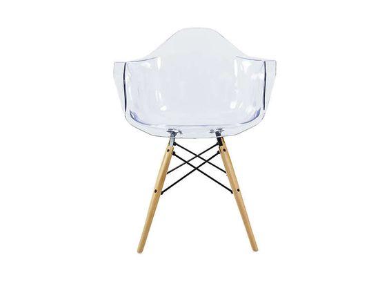 Chaise en polycarbonate Transparent KENNEDY-F