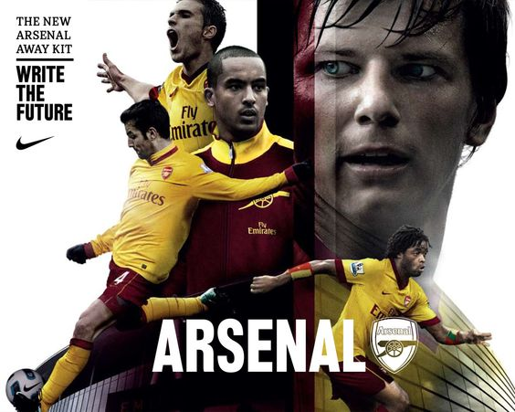 2010 Arsenal Away jersey promotion, Nike // Write the future