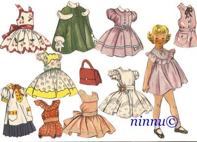Paperinuket: Muñeca Recortable, Dolls 25, Paper Dolls ️, Paper Dolls, Recortables Antiguos, Doll Patterns, Paper Dolls 2, Paperdolls 81, Dolls Paper