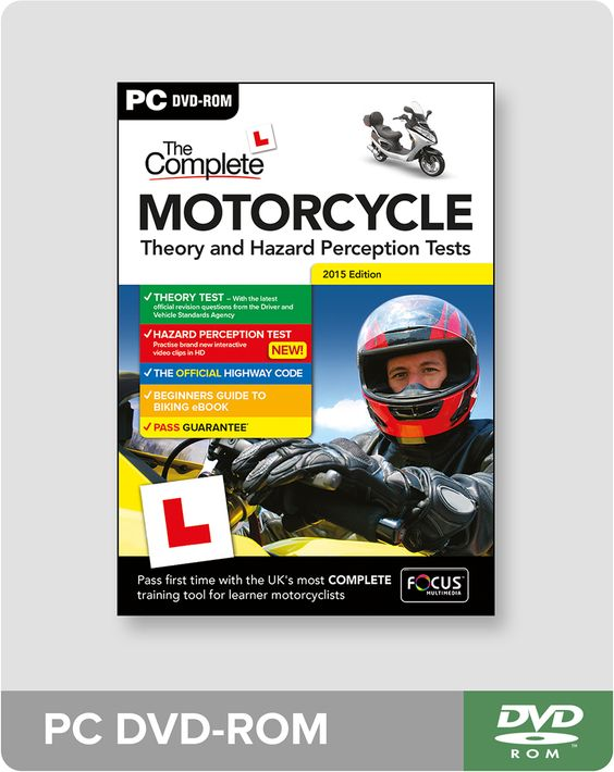 Prepare for your bike Theory Test with The Complete Motorcycle Theory and Hazard Perception Test PC DVD-ROM