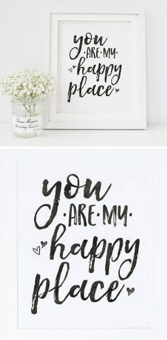 You Are My Happy Place Printable Wall Art Simple And Beautiful Home Decor Ad My Happy Place Simple Prints Inspirational Prints