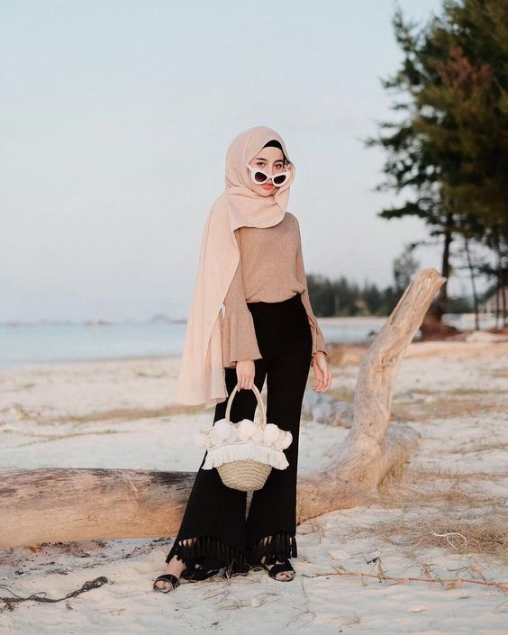 Hijab Beach Style Hipster Dress Chic Summer Style Beach Outfit