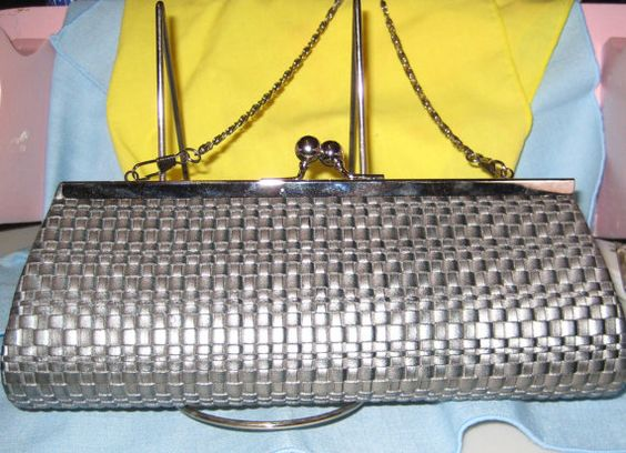 Silver Gray Purse Evening or Formal Wear by ShabbyBuyDesign, $10.00