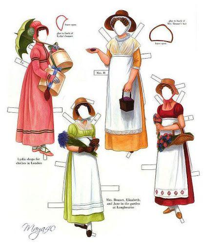 Pride and Prejudice paper dolls by Brenda Sneathen Mattox - irish123nd mix - Picasa Web Albums