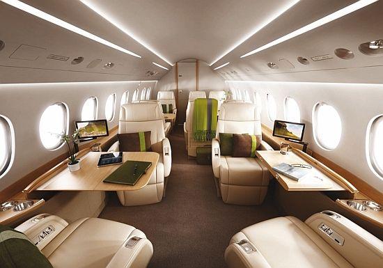 WEB LUXO - Aviação: Falcon 2000S, o jato para voos em primeira classe.