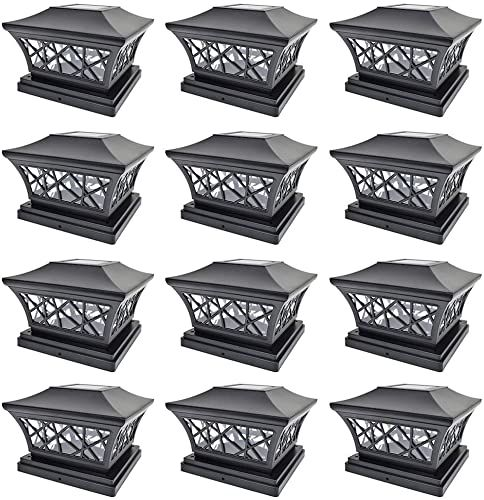 The Perfect Iglow 12 Pack Black 6 X 6 Solar Post Light Smd Led Deck Cap Square Fence Outdoor Garden Land In 2020 Lawn And Garden Outdoor Gardens Landscaping Wood Patio