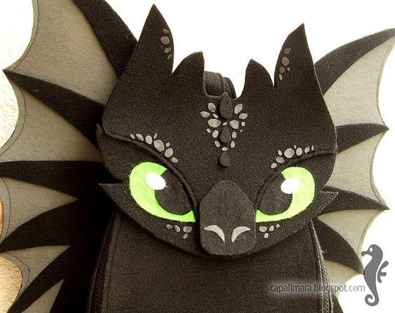 Rucksack Ohnezahn lustig niedlich schwarz Dragon von CapallMara