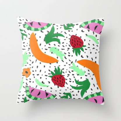 Fruit Party II Throw Pillow