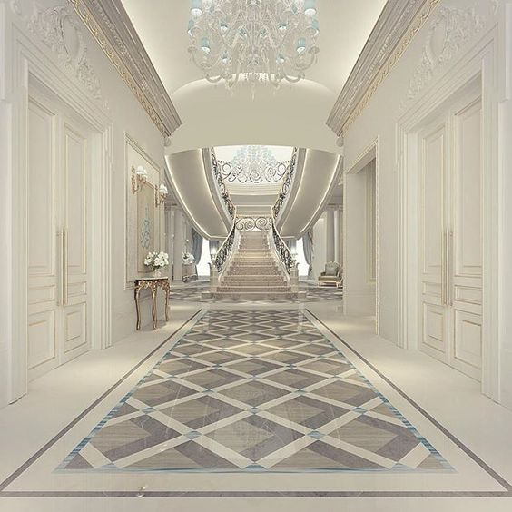 Dubai doha and lobby design on pinterest for Luxury staircase design