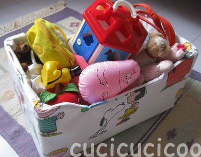 Recupera vecchie lenzuola: contenitore per la casa - Cucicucicoo