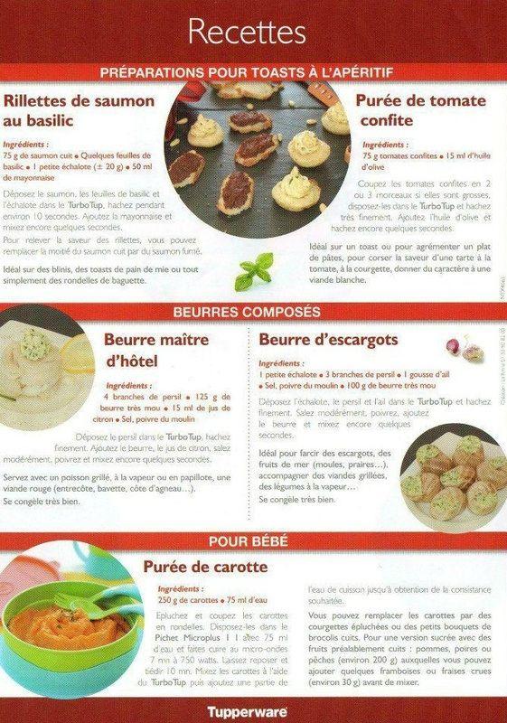 Recette tupperware fiche technique tupp pinterest - Fiche technique cuisine pdf ...