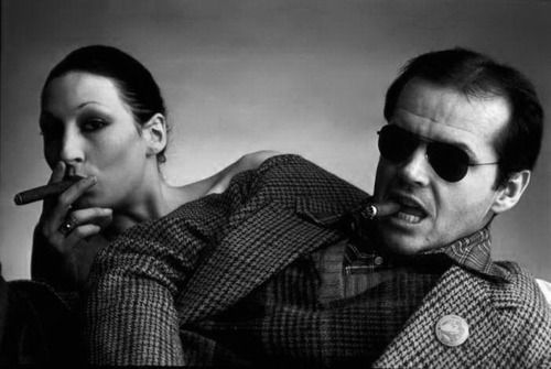 jack nicholson and angelica houston for interview