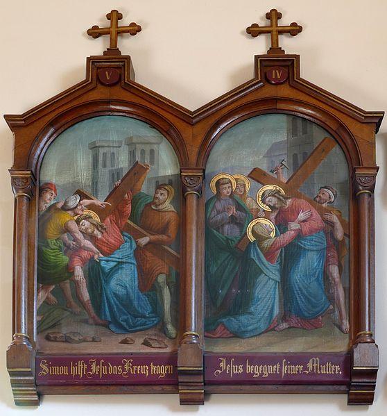 Caroline Sorg: Eglise St Maurice , Alsace 1888
