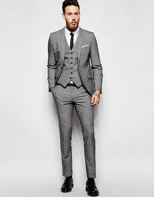 günstigen preis genießen 100% Zufriedenheit offizielle Bilder Heart & Dagger – Anzughose in sehr enger Passform mit ...
