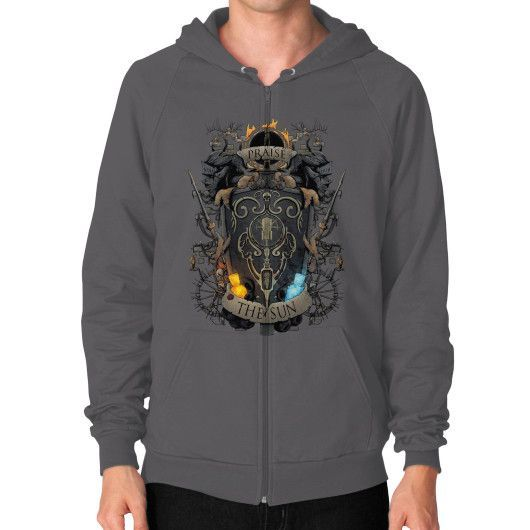 Ash to Embers Zip Hoodie (on man)