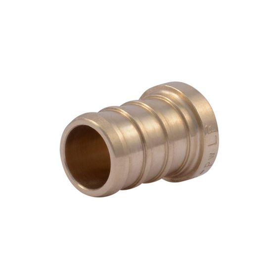 Sharkbite 1 2 In Pex Barb Brass Plug Fitting 5 Pack Uc514lfa5
