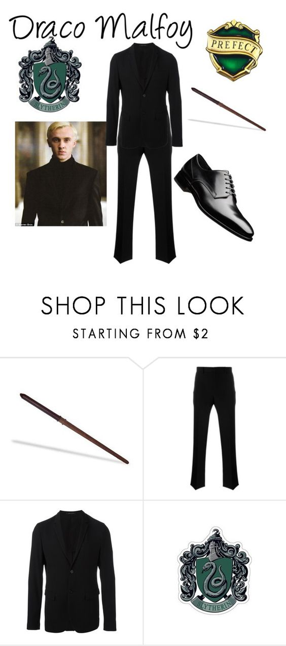 """Draco Malfoy"" by slytherinprincess1904 ❤ liked on Polyvore featuring Givenchy, Emporio Armani, men's fashion, menswear and harrypotter"