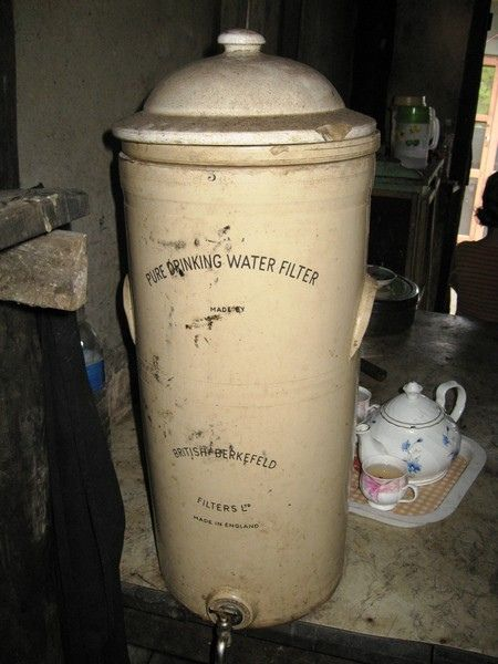 Lifetime water filter. Won't stop working when the power goes off. Doesn't need a pump or flashing lights or high-tech  cartridges.