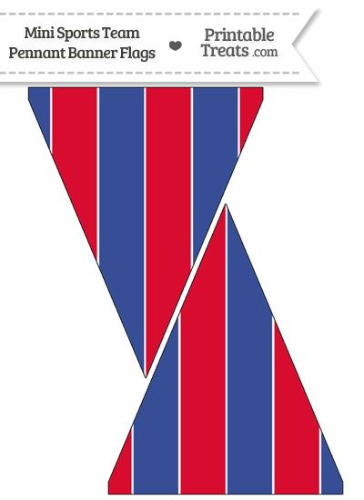 Phillies Colors Mini Pennant Banner Flags from PrintableTreats.com