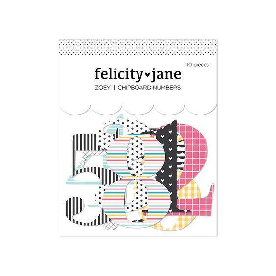 Felicity Jane Zoey | Chipboard Numbers