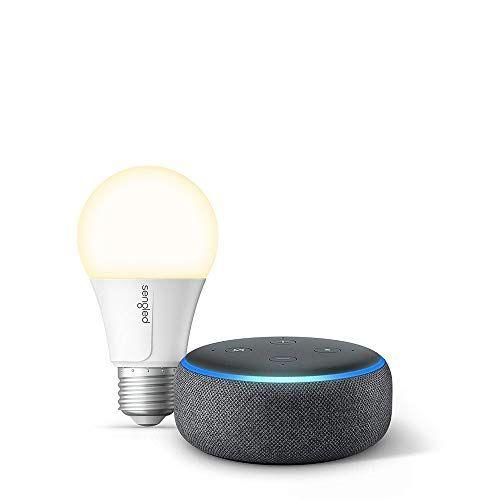 Echo Dot 3rd Gen Charcoal Bundle With Sengled Wi Fi Smart Bulb Now 27 Was 64 98 Smart Bulb Echo Dot Wifi