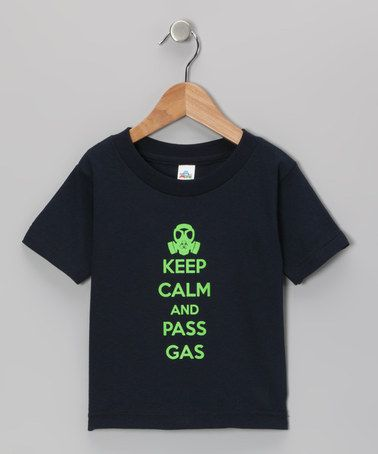 Take a look at this Navy Pass Gas Tee - Toddler & Kids by Donkey Tees on #zulily today!