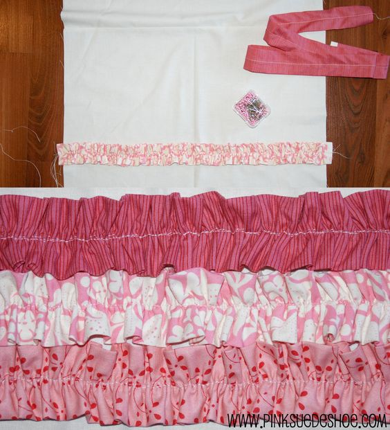 Pink ruffled quilt tutorial