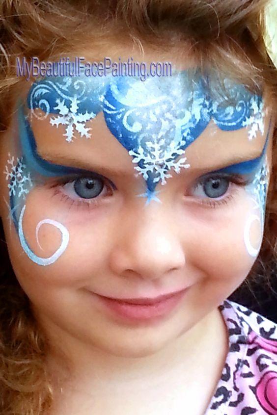 frozen elsa snow queen face paint maquillage enfant pinterest reine des neiges elsa et la. Black Bedroom Furniture Sets. Home Design Ideas