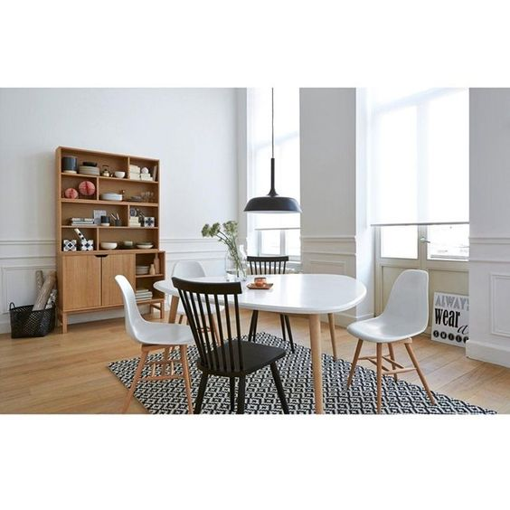 table de salle manger 6 personnes jimi la redoute. Black Bedroom Furniture Sets. Home Design Ideas