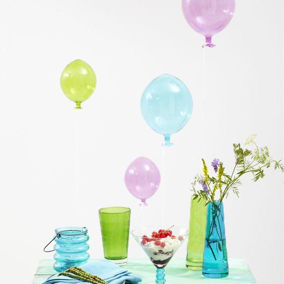 Deko-Objekt Balloon 18cm viola , Leonardo