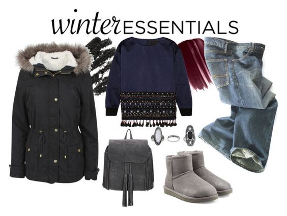 """winter staples"" by spiceandsugar ❤ liked on Polyvore featuring Urban Decay, Polo Ralph Lauren, J.Crew, Urban Bliss, UGG Australia, Topshop and winterstaples"