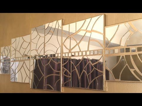 Diy Wall Decor With In Built Lighting Using Cardboards Simple And Inexpensive Wall Decorating Idea Yout Diy Dollar Tree Decor Diy Wall Art Gold Diy