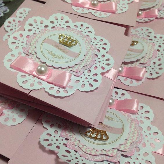 Convites personalizados para Princesa.#princesa