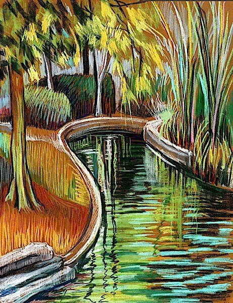 landscape / pastel on canson mi-teintes paper