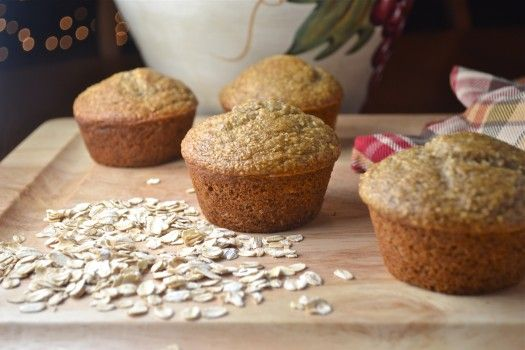 Muffins de plátano saludables