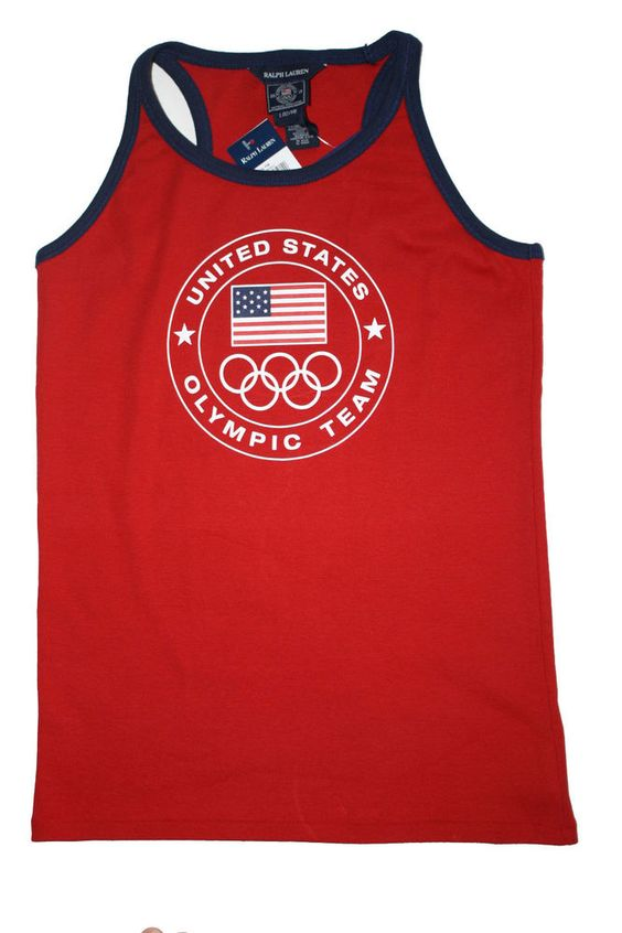 NWT Ralph Lauren Girls Sleeveless Graphic Olympic Red Tank Shirt Size L   #RalphLauren #Everyday