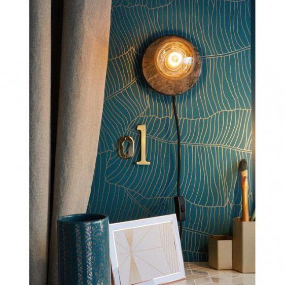 Papier Peint Vinyle Expanse Sur Intisse Palme Vert Argente