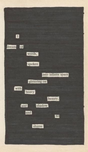 Newspaper Black Out Poetry: