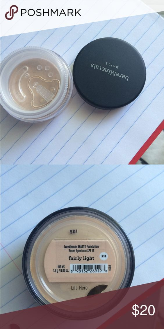 Bare Minerals Matte Foundation in Fairly Light Unopened, brand new.                                         I recently bought a bundle of Bare Minerals makeup, only to discover it was not my color. I know have quite a few pieces for sale. Some opened to test, most unopened. If you buy more than one piece, I'll do discounts.  *open to swaps, but only my shade or size* Makeup Foundation