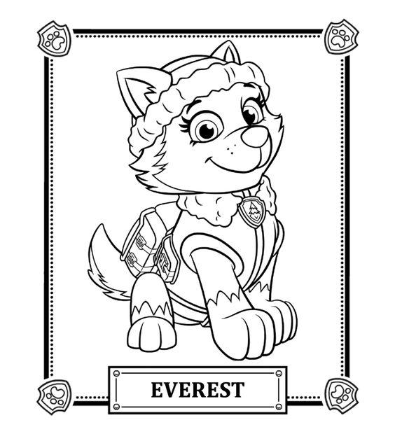 PAW Patrol Everest Coloring Pages Coloriage libre