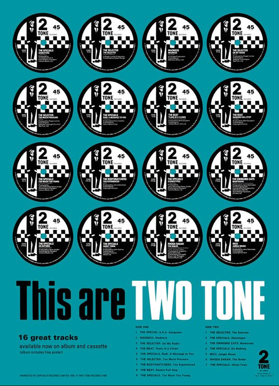 This Are Two Tone Compilation Poster 2 Tone Artwork And