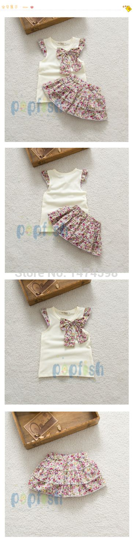 2015 niños del verano nuevos falda del traje ropa del bebé fija puntos puntos falda falda de la flor de las niñas ropa princesa SkirtRetail en Conjuntos de Ropa de Bebés en AliExpress.com | Alibaba Group
