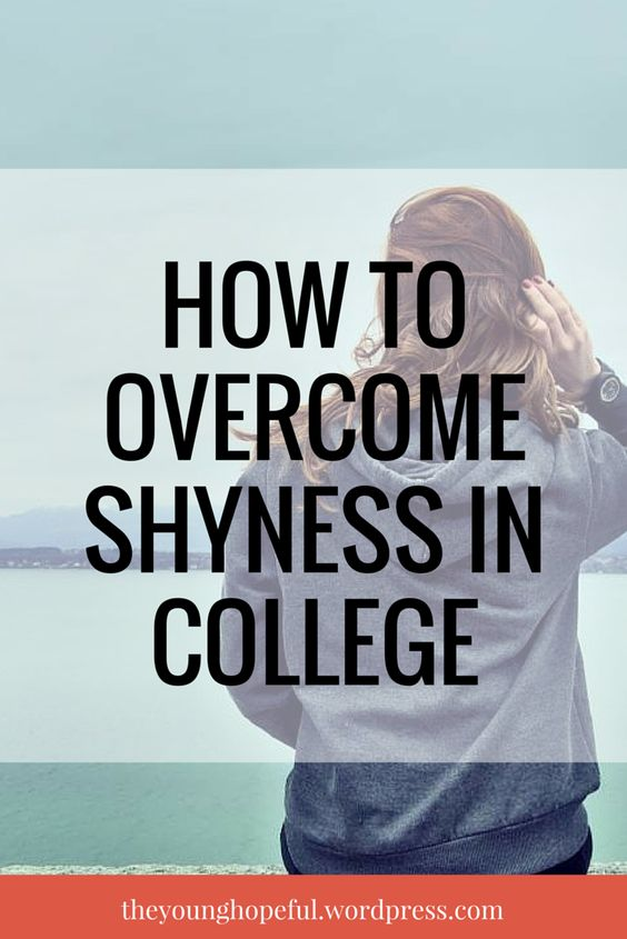 Tips on how to overcome shyness, gain more confidence and meet new people in college!