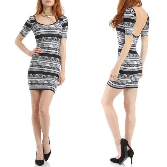 NEW! American Apparel Double-U Mini Dress Brand new printed dress with a low back by American Apparel. Only selling bc I have this exact style in 3 other prints already! Super comfortable and great for going out or everyday. Open to trades & bundles. American Apparel Dresses Mini