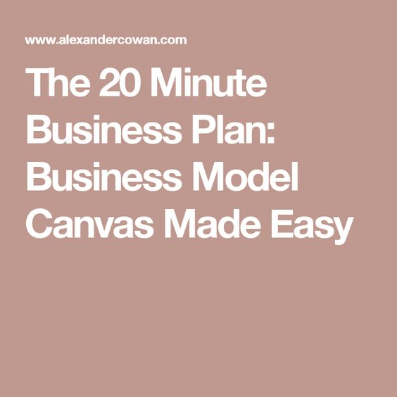 Best  Business Model Template Ideas On   Business