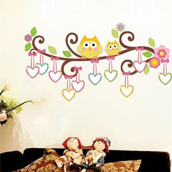 Dibujos de buhos infantiles en arboles buscar con google - Pegatinas pared infantiles disney ...